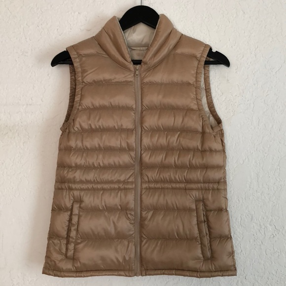 Uniqlo Jackets & Blazers - Uniqlo Cream Down Vest